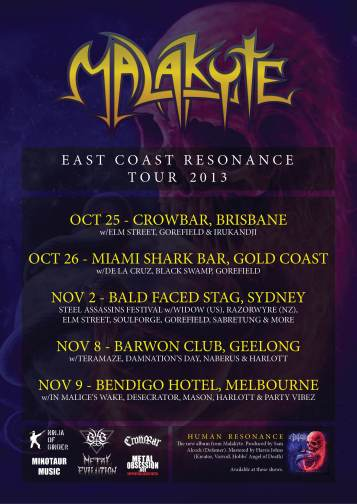 MALAKYTE_East Coast Resonance Tour 2013 Flyer